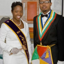 WM Kyra Caldwell and WP Bertram Thomas