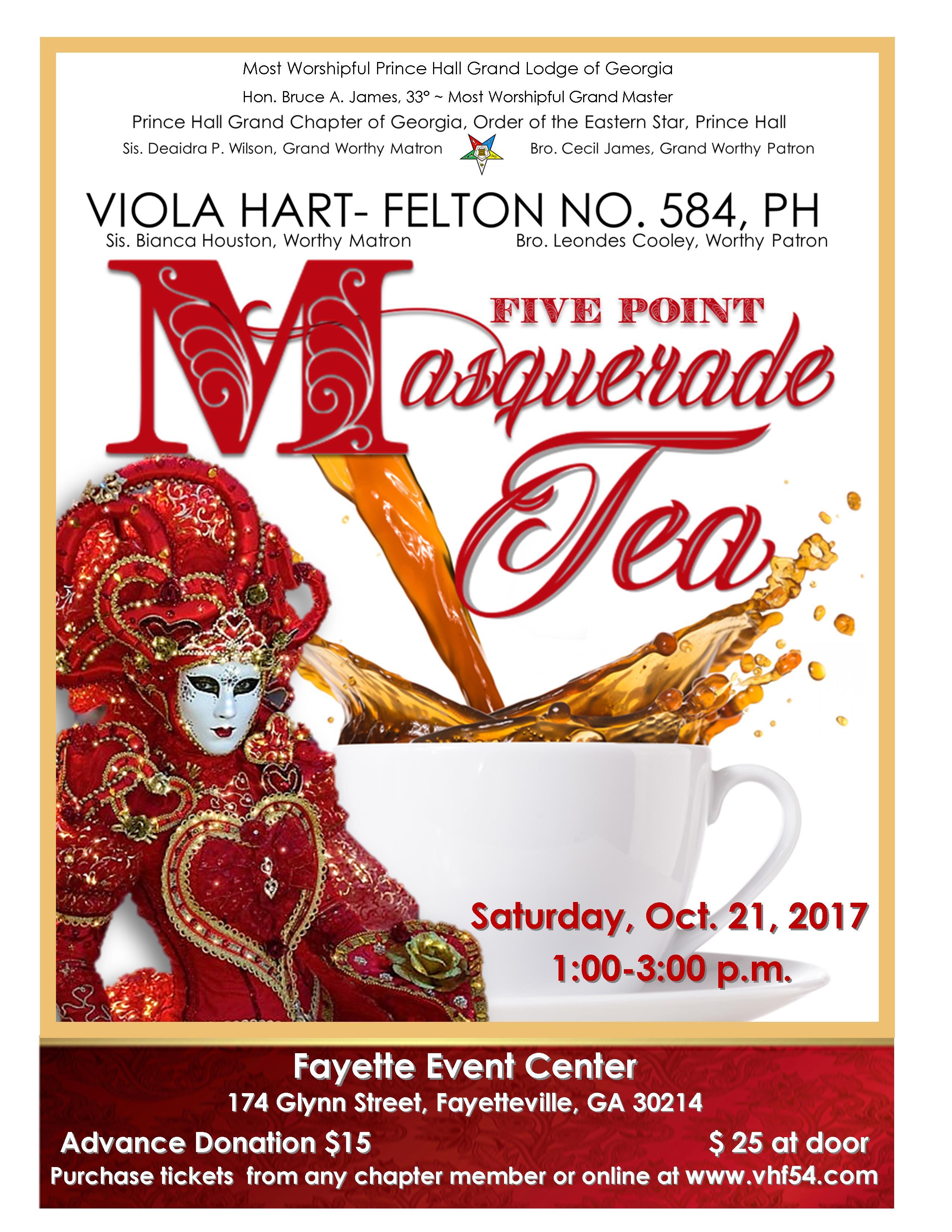 Five Point Masquerade Tea @ Fayette Event Center